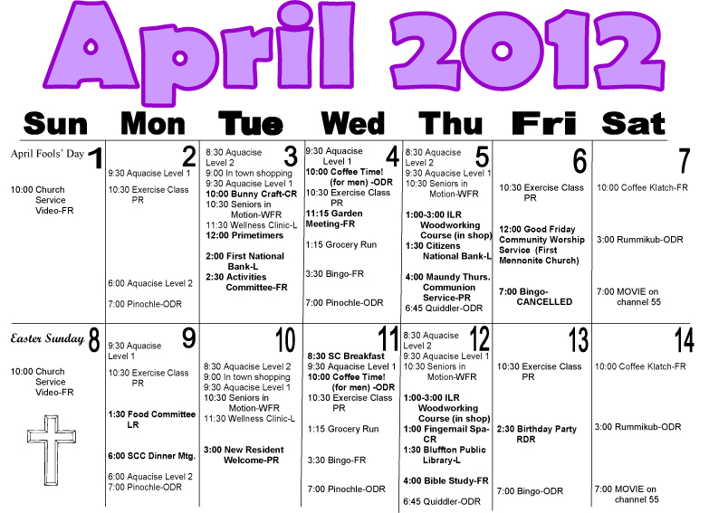 Calendar April Events : Maple crest april events calendar now on the icon