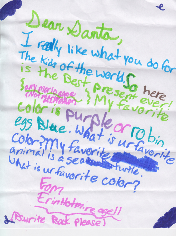 Kids Letter To Santa Here's a letter to santa from