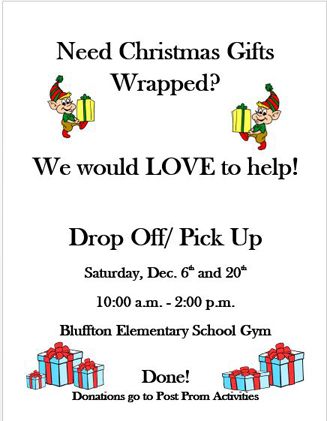 Bhs Juniors Parents Offer Gift Wrapping Service To Raise Post Prom Funds The Bluffton Icon