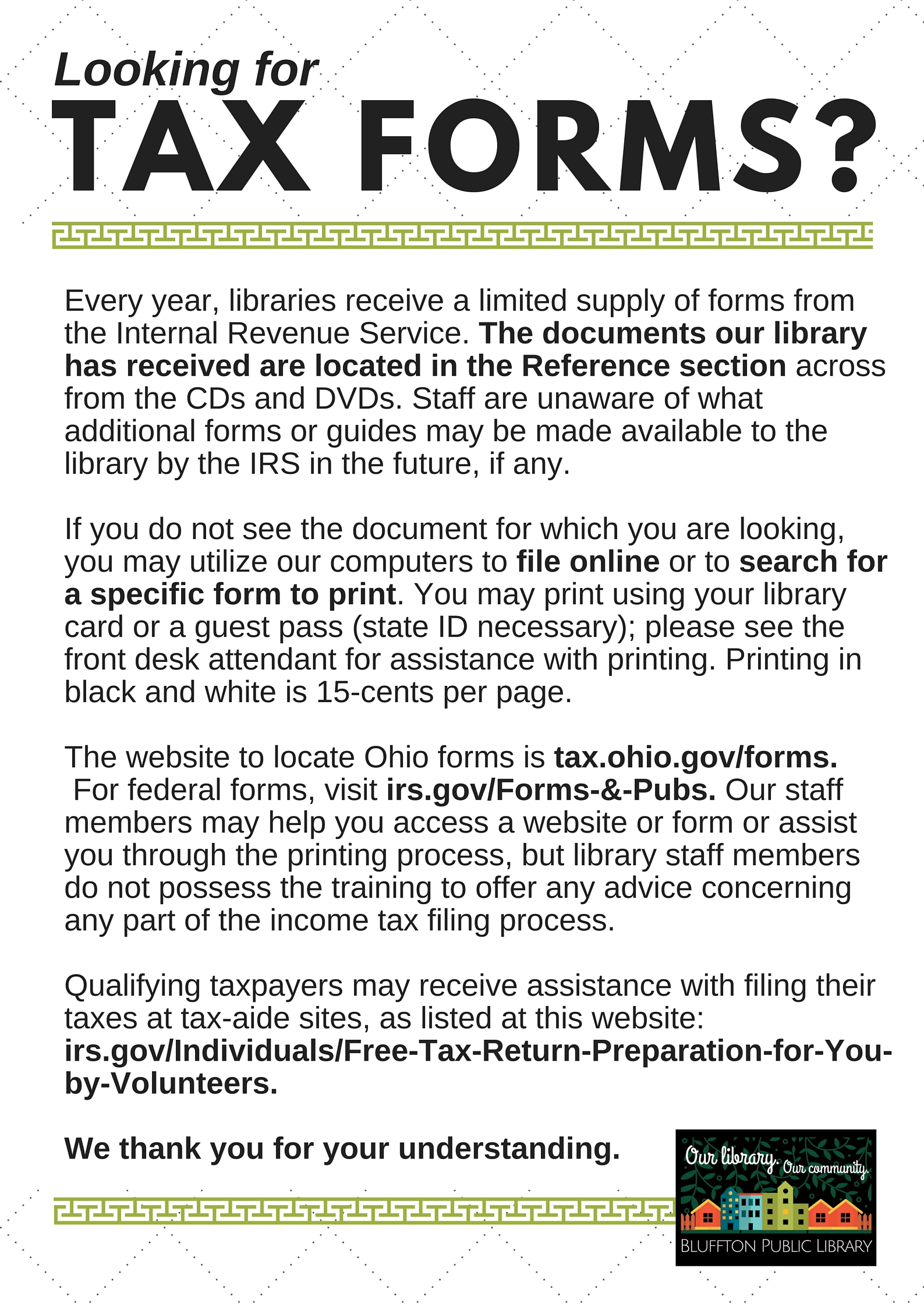 Irs Reduces Number Of Tax Forms Available At Libraries Irs Reduces Number  Of Tax Forms Available
