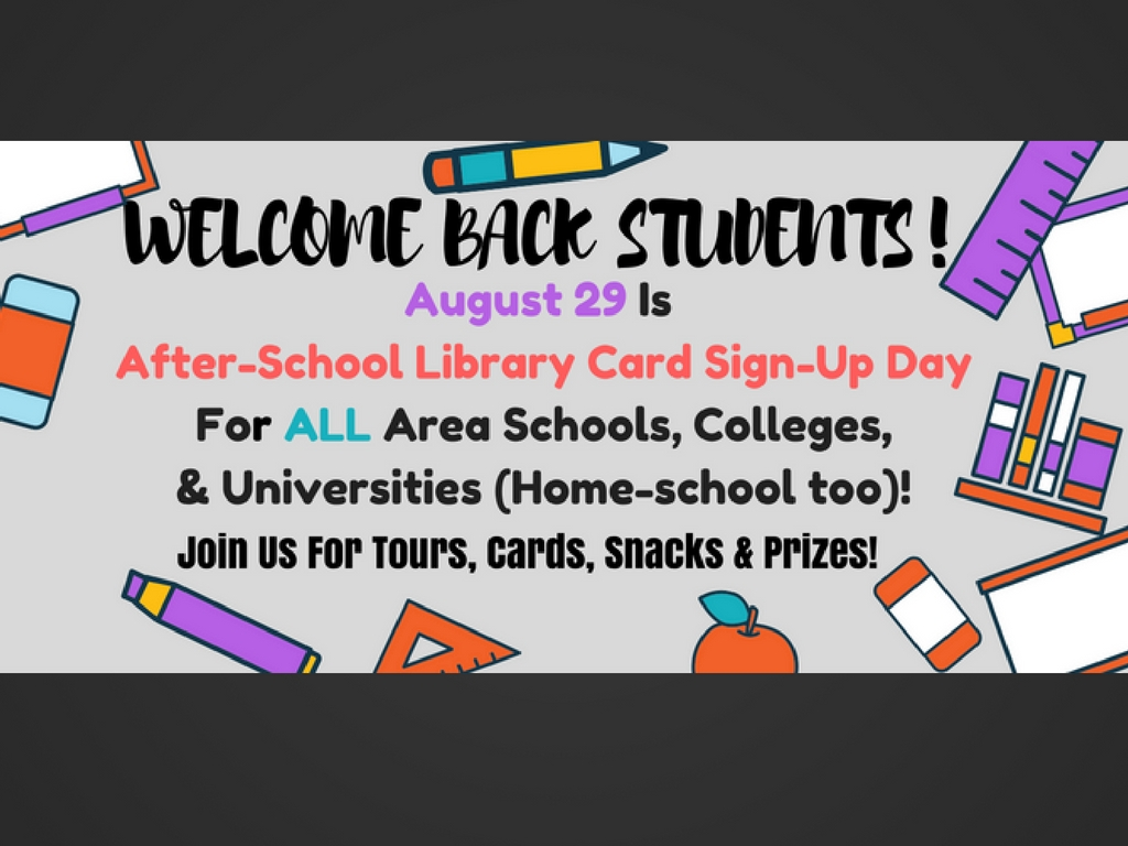 """Prizes, snacks, tours, and more at """"After-School Library"""
