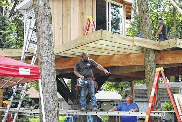 Bluffton builder Cory Pinks goes out on a limb tonight   The