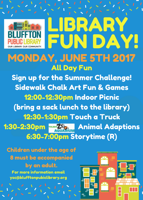 Summer Program Kicking Off at Bluffton Public Library on June 5   The ...