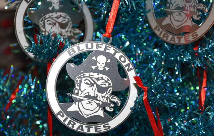 BHS Pirate Christmas Ornaments - Scoreboard - It's Easy To Place A