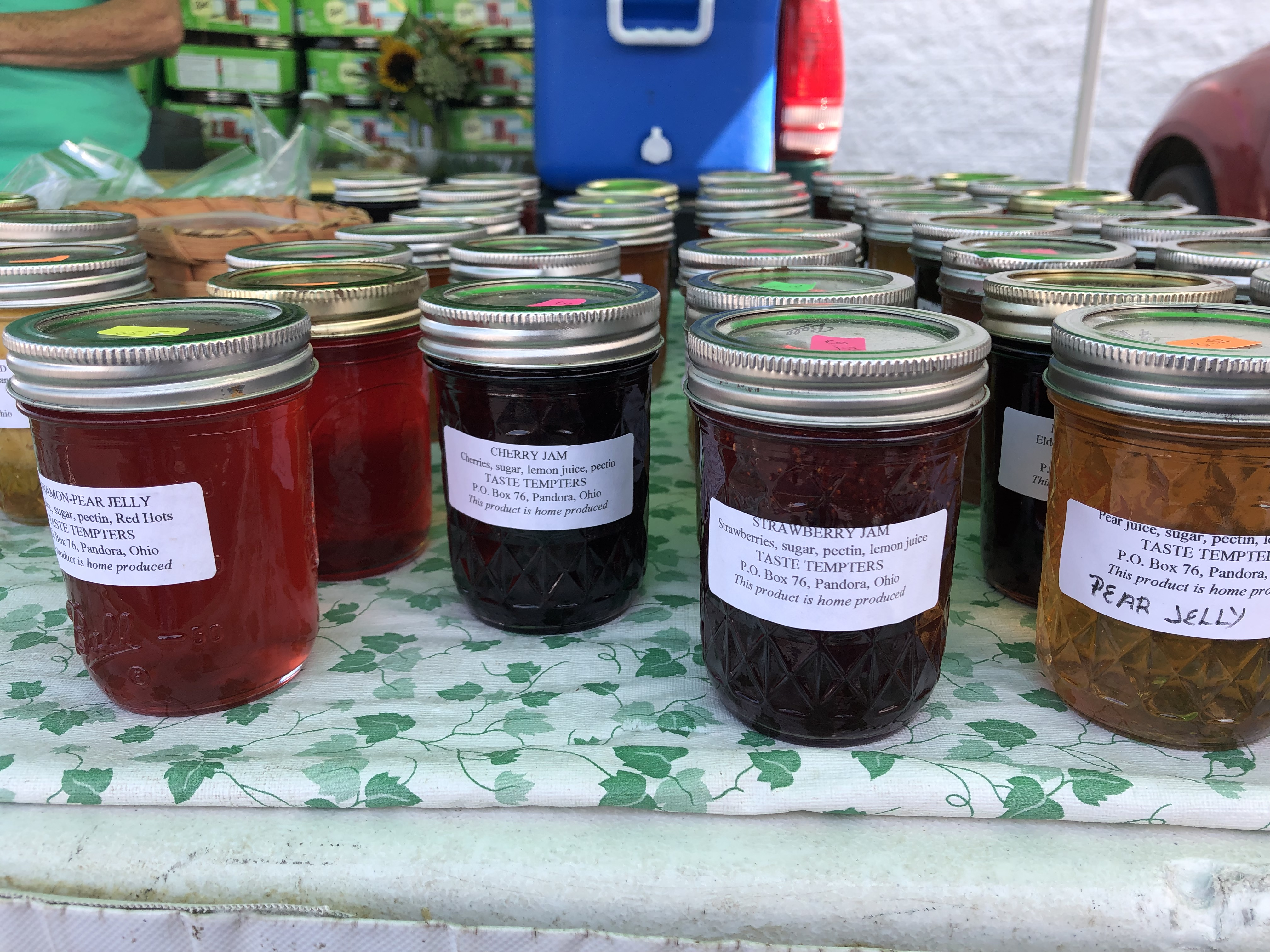 Taste Tempters offers jams, jellies and breads, plus gluten