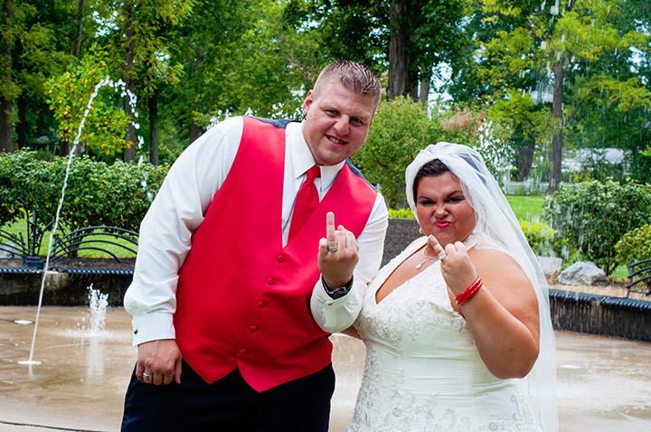Not Your Typical Wedding Pose