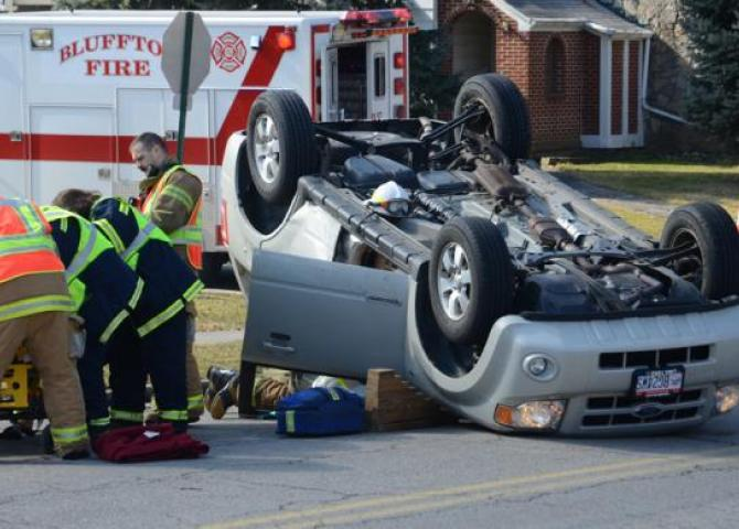 Two-car accident