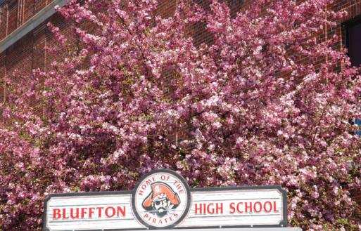 Bluffton blooms in April