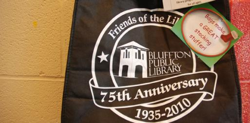 Bluffton Public Library 75th anniversary bag