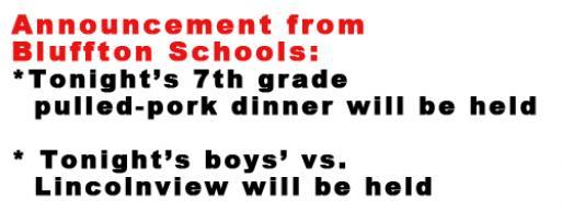 Tonight's school events still on!