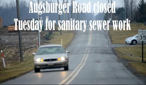 Road closed near Maple Crest