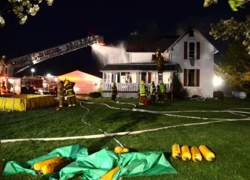 Lincoln Highway house fire