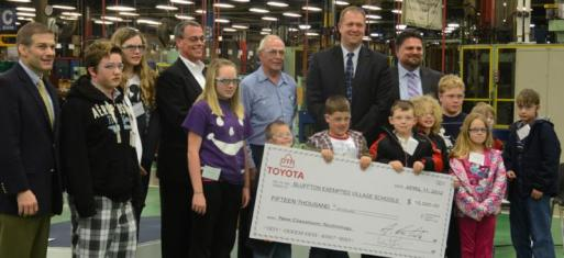 $15,000 DTR-Toyota donation to schools