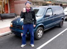 Ben standing in front of the '94 Dodge