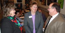 Sherri Gardner Brumbaugh and Julie Brown with John Bauer