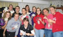 Members of the Bluffton University volleyball team