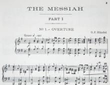 Opening chords of Handel's Messiah