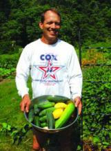 James Pannabecker on his farm in Virginia