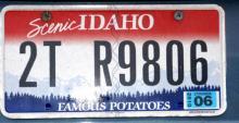 Idaho license plate on Vine