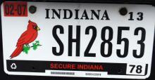 Berne, indiana license plate