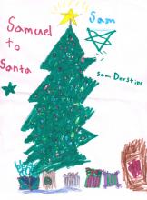 Drawing to Santa from Sam Derstine