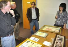 Jurors of the BCE art auction select art