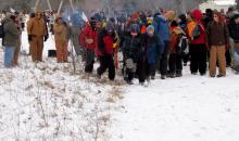 Troop 256 Pit Viper Patrol at the start of the 2012 Klondike derby