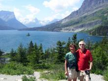 Joanne and Bob Antibus at Glacier National Park