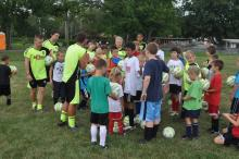 Scene from last summers' British Soccer Camp at BFR