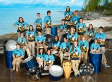 Findlay High School Pantasia, steel-drum band