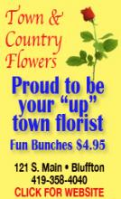 Town and Country Flowers advertisement on The Icon