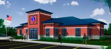 Artist rendering of First National Bank's Findlay West banking center
