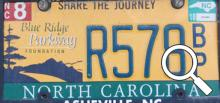 NC plate on Albert Street