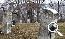 The original village cemetery on Jefferson Street