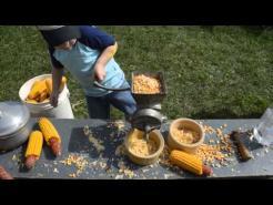 Grinding corn, 9 27 14