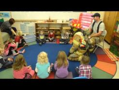 Firefighters visit Pre school, 10 7 14