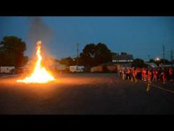BHS homecoming bondfire, 9 24 14